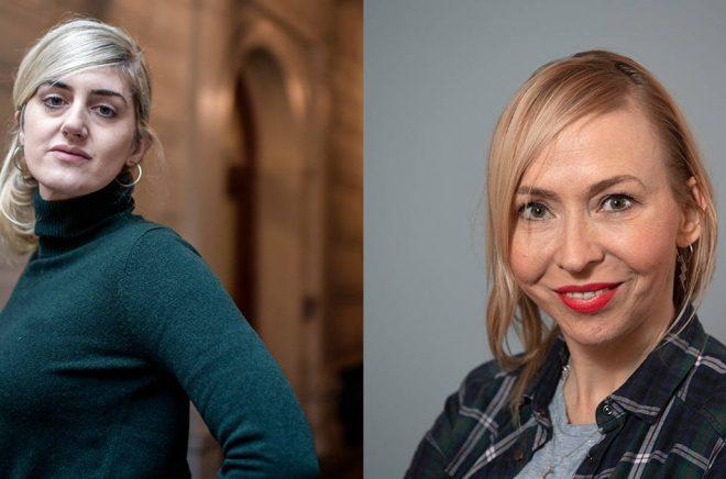 Matilda Gustavsson och Jenny Jägerfeld. Arkivbilder: Anders Wiklund/TT.
