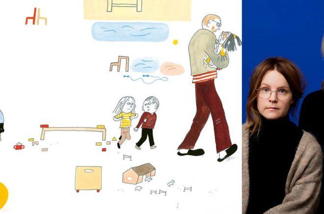 Till höger: Emma Adbåge och Lotta Olsson (Foto: Magnus Liam Karlsson). Till vänster, ur boken.