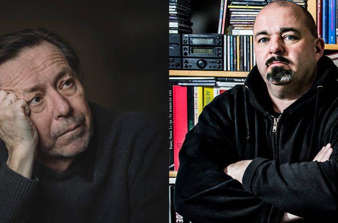 Steve Sem-Sandberg (till vänster) har chans att få Nordiska rådets litteraturpris för romanen