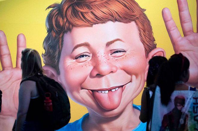 Mort Drucker är mest känd för sina serier i tidningen Mad. Arkivbild: Kevin Sullivan/AP/TT.