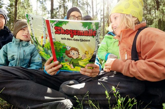 För första gången på 25 år ges en ny bok med Skogsmulle ut. Foto: Daniel Ohlsson, Friluftsfrämjandet.