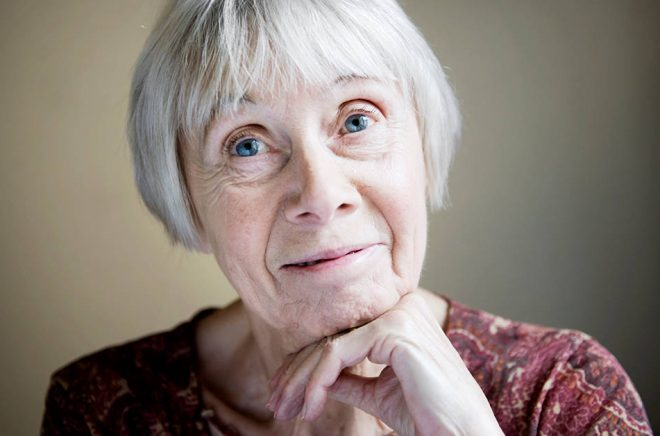 Litteraturprofessor Birgitta Holm prisas. Arkivbild: Malin Hoelstad/SvD/TT.