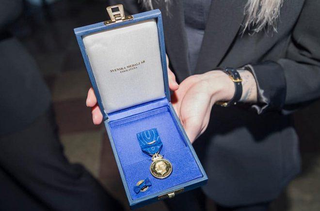 Ett exempel på en av de medaljer som delas ut. Arkivbild: Stina Stjernkvist/TT.