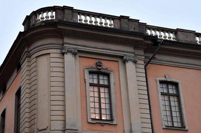 Svenska Akademiens sammanträdesrum i Börshuset i Gamla stan i Stockholm. Arkivbild: Henrik Montgomery/TT.