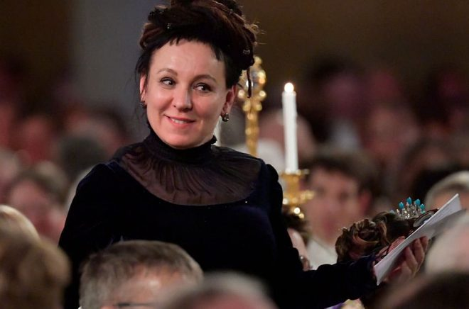 Nobelpristagaren Olga Tokarczuk. Arkivbild: Anders Wiklund/TT.