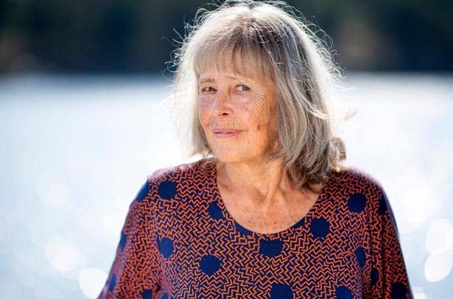 """Agneta Pleijel är aktuell med romanen """"Dubbelporträtt"""": """"Jag har i hela mitt liv vacklat mellan att skriva för många eller att bli exklusiv. Här fick de två delarna mötas i form av Christie och Kokoschka."""" Foto: Pontus Lundahl/TT."""