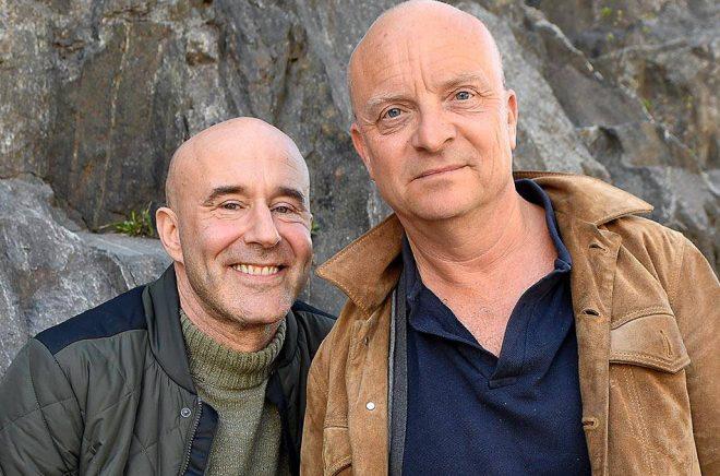 Mark Levengood och Jonas Gardell. Arkivbild: Jonas Ekströmer/TT.