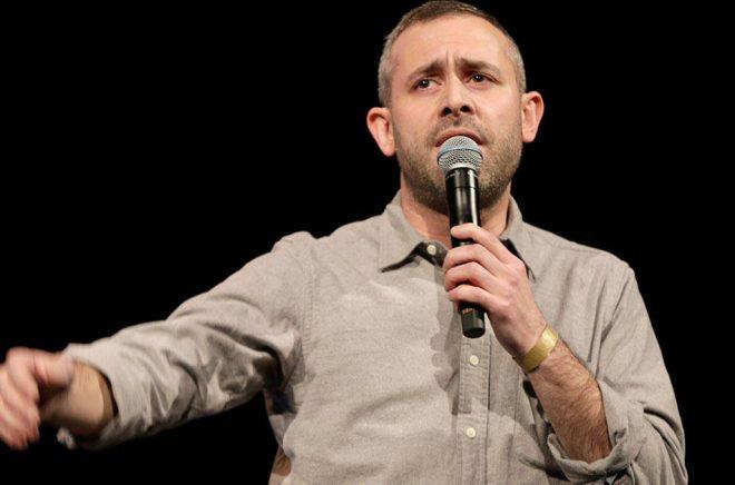 Komikern Aron Flam är åtalad för upphovsrättsbrott. Arkivbild: Vidar Ruud/NTB/TT.