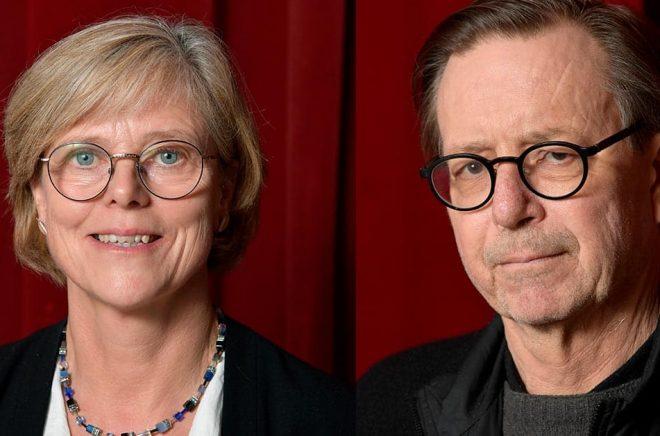 Ingrid Carlberg och Steve Sem-Sandberg har invalts som ledamöter av Svenska Akademien. Arkivbild: Anders Wiklund/TT.