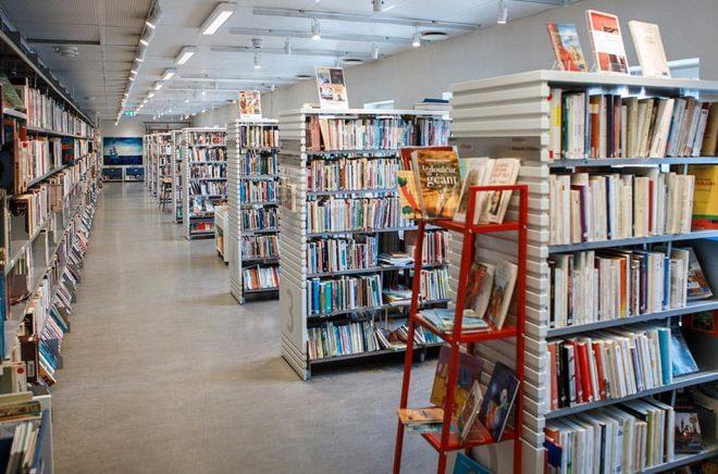 Bokhyllor i Stadsbiblioteket i Stockholm. Arkivbild: Simon Rehnström/SvD/TT.