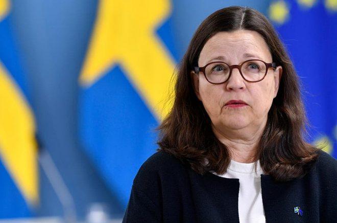 Utbildningsminister Anna Ekström (S) tar på tisdagen emot betänkandet i den statliga utredningen om skolbibliotek. Arkivbild: Henrik Montgomery/TT.