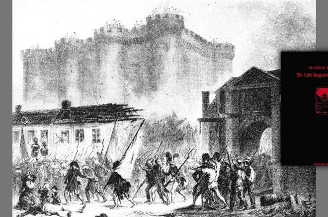 Marquis de Sades originalmanuskript överlevde stormningen av Bastiljen 1789. Nu ska det säljas på auktion. Arkivbild: TT. Infälld: Den svenska utgåvan av boken.