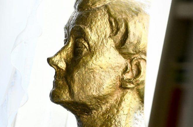 Byst av Astrid Lindgren i hennes lägenhet, där förra årets Almapris tillkännagavs. Arkivbild: Claudio Bresciani/TT.