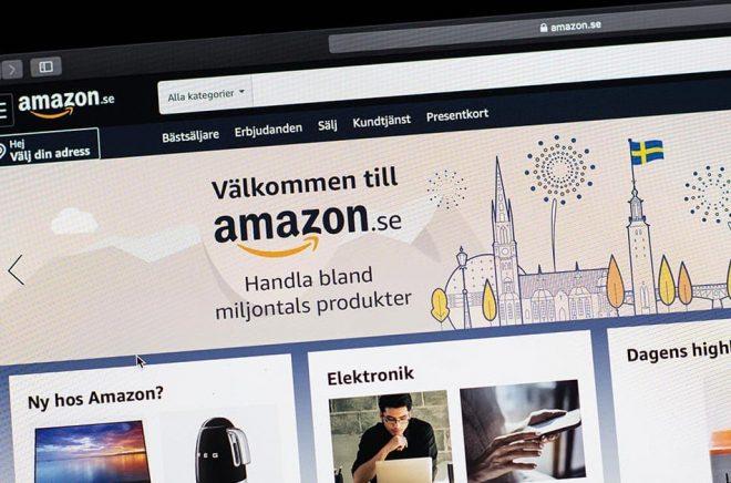 Amazon lanserade sin svenska sajt i oktober förra året. Arkivbild: Amir Nabizadeh/TT.