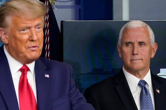 Den amerikanske förläggaren Jonathan Karp försvarar sitt beslut att ge ut två böcker av Donald Trumps vicepresident Mike Pence. Arkivbild: Susan Walsh/AP/TT.