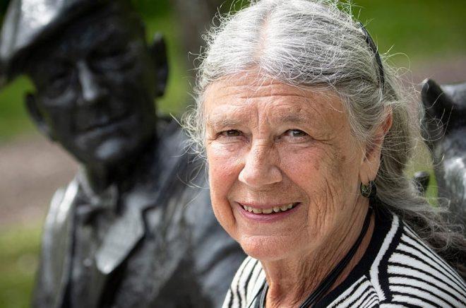 Författaren Karin Brunk Holmqvist är årets Piratenpristagare. Foto: Johan Nilsson/TT.
