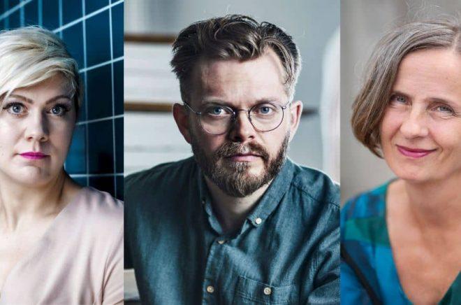 Linn Spross, Anders Teglund och Susanna Alakoski är alla aktuella med nya arbetarskildringar. Foto: Caroline Andersson Renaud/Mikael Göthage/Stina Stjernkvist/TT