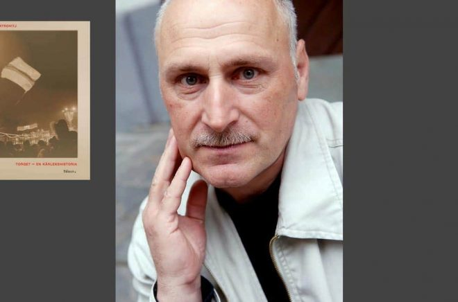 Barys Pjatrovitj är författare och ordförande för det oberoende författarförbundet i Belarus. Nu uppges han vara satt i husarrest. Pressbild: Foto: Maria Söderberg/Rámus.