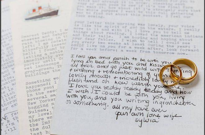 Sylvia Plaths kärleksbrev till maken Ted Hughes inbringade stora summor på auktion. Pressbild: Sotheby's.