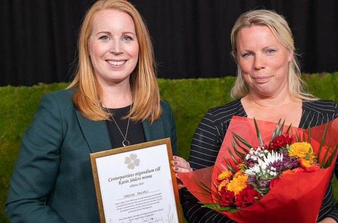 Annie Lööf Karin Söder-stipendiet Caroline Engvall