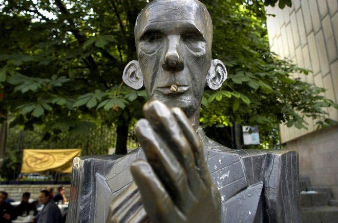 Staty av Nils Ferlin i Stockholm. Foto: Jurek Holzer / SvD / TT.