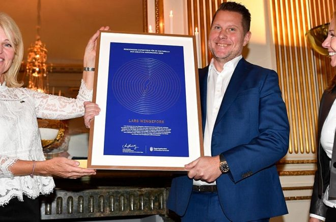 regeringens exportpris för kulturella och kreativa näringar till Lars Wingefors