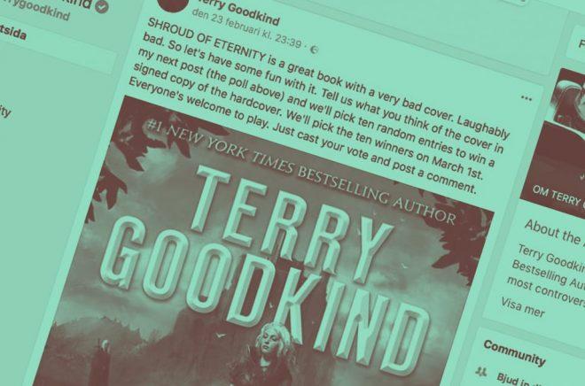 Ibland kan det bli rejält fel - när Terry Goodkind lade ut en kommentar om omslaget på sin senaste bok lät reaktionerna inte vänta på sig