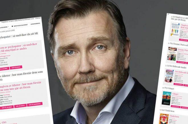 Författaren Thomas Erikson kan njuta av att läsa topplistor just nu. Hans böcker i Omgiven-serien är storsäljare i Sverige och utomlands.
