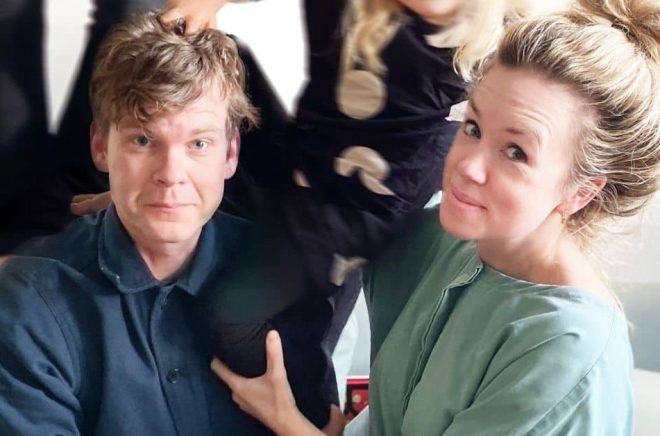 Jonas Tjäder och Maja Knochenhauer. Foto: Pressbild/Opal förlag