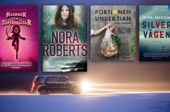De 20 mest sålda böckerna i sex olika kategorier i januari 2019. Silvervägen toppar tre av listorna. Bakgrundsfoto: iStock. Montage: Boktugg.