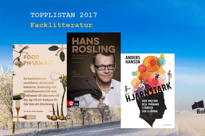 De 20 mest sålda fackböckerna i Sverige 2017. Bakgrundfoto: Fotolia. Montage: Boktugg.