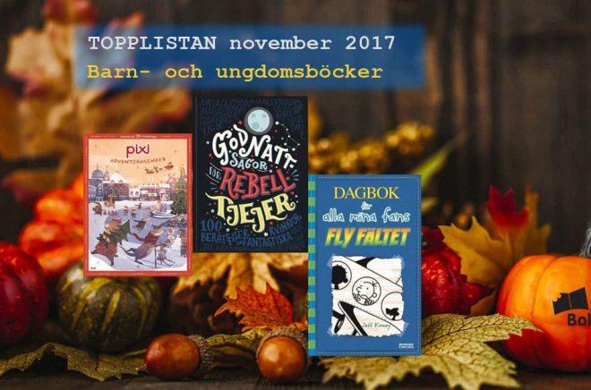 De 20 mest sålda barn- och ungdomsböckerna i Sverige under november 2017. Foto: iStock.