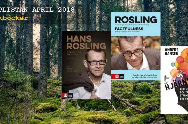 Mest sålda fackböckerna i april 2018. Bakgrundbild: iStock
