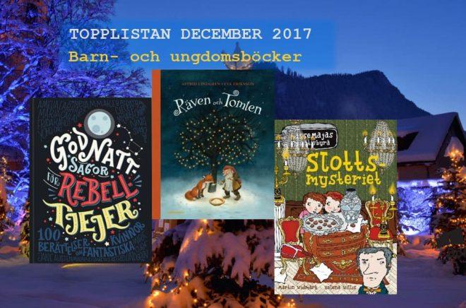 De 20 mest sålda barn- och ungdomsböckerna i julhandeln december 2017. Bakgrundbild: Fotolia. Montage: Boktugg.