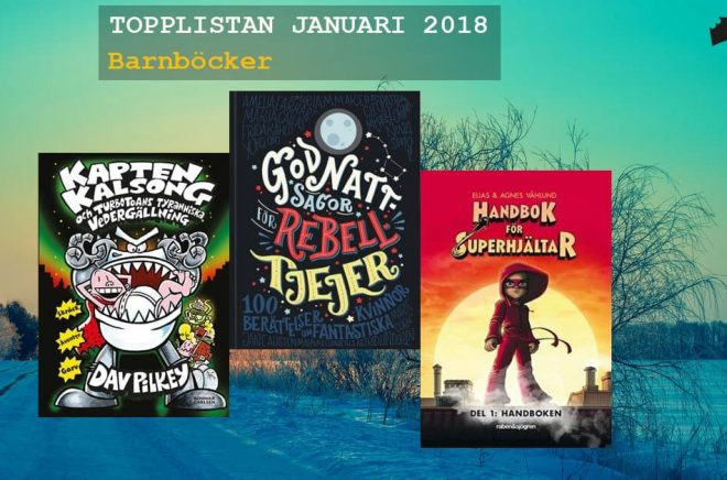 De 20 mest sålda barnböckerna i januari 2018. Bakgrundsfoto: Fotolia.