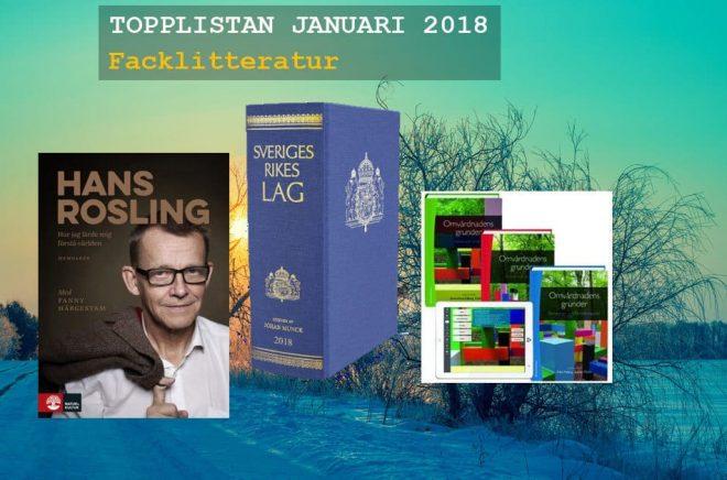 De 20 mest sålda fackböckerna i Sverige under januari 2018.