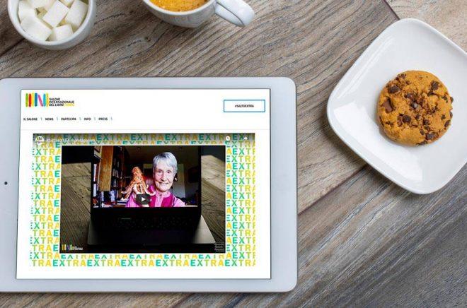 Den digitala varianten av Bokmässan i Turin blev en succé. Bakgrundsfoto: iStock. Montage: Boktugg.