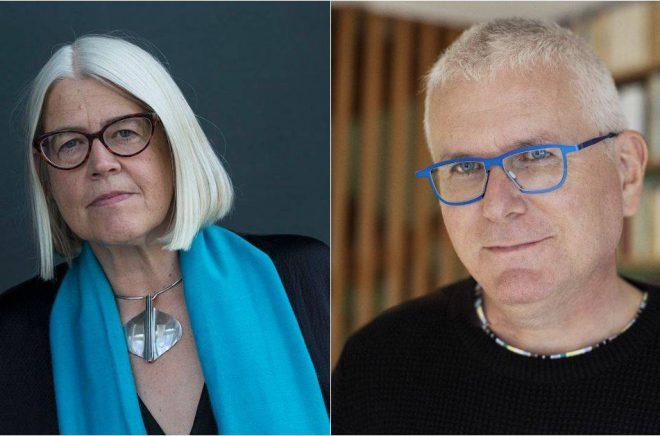 Stiftelsen Eva Bonniers 70-årsfonds stipendium 2021 går till Ulrika Knutson (foto: Sören Håkan Lind) och Per Wirtén (foto: Sofia Runarsdotter).