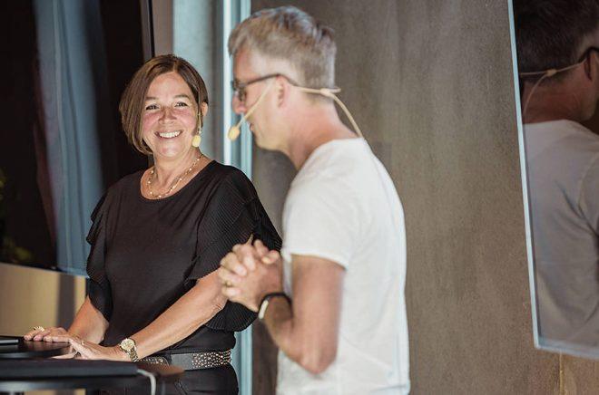 Författaren Christina Larsson och WAPI-grundaren Mattias Lundgren.