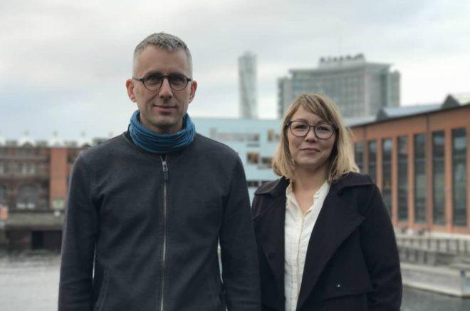 Mattias Lundgren, vd WAPI, och Alexandra Harlegård, projektledare. Foto: WAPI