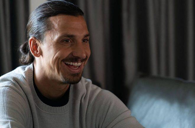 """Zlatan Ibrahimovic i en intervju om den nya boken """"Jag är fotboll"""". Foto: Elisa-Ferrari/TT."""
