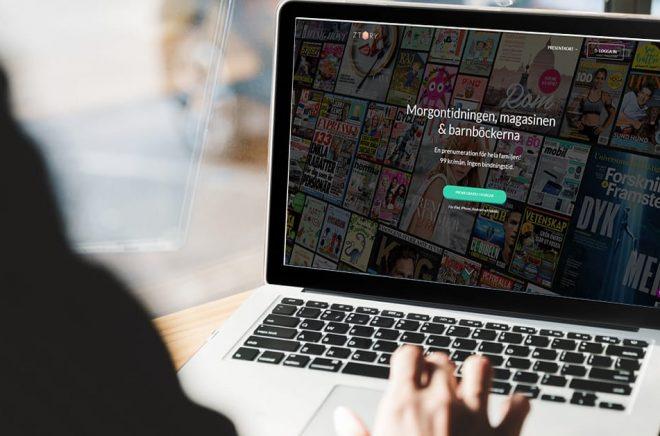 Storytel köper Ztory. Tidningar och böcker i samma app framöver? Foto: iStock. Montage: Boktugg.