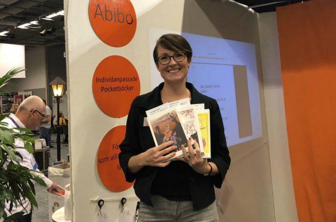 Anna Hansers Rutäng, grundare av nätbokhandeln Abibo.se. Foto: Boktugg