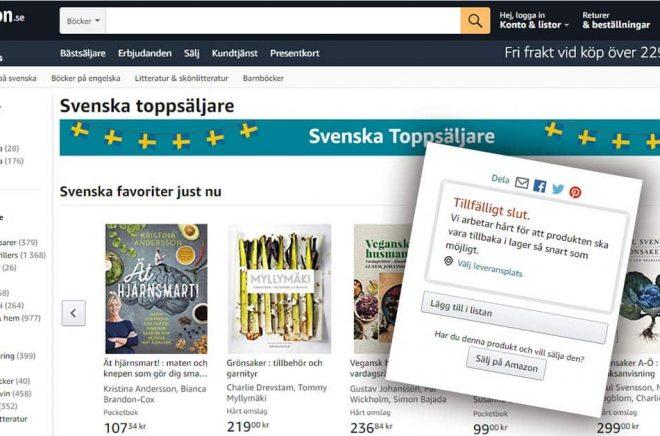 Amazon.se böcker saknas