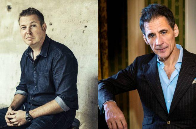 Författarna Fredrik Backman (foto: Henric Lindsten) och David Lagercrantz (foto: Cato Lein) toppar listan över de mest lästa översatta böckerna på Amazon 2017.