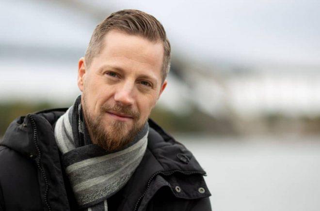 Andreas Ek, författare och kriminaltekniker. Foto: Bee Thalin