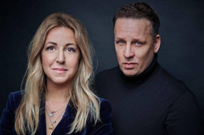 Författarduon Alexandra Appelqvist och Benjamin Andrée. Foto: Linus Hallsenius