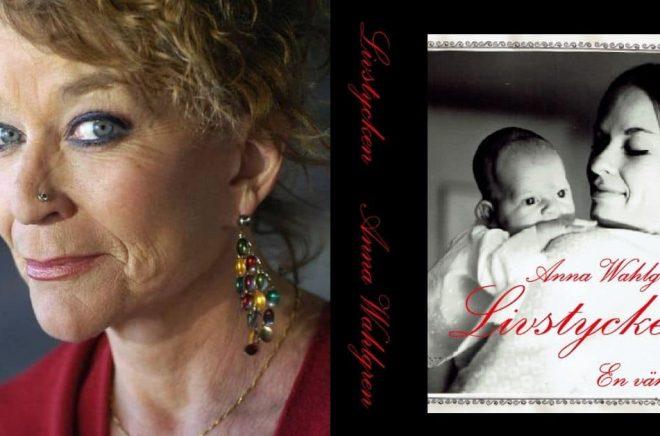 Till vänster: Anna Wahlgren. Foto: Pressbild. Till höger: Omslagsbilden från 1962 visar lilla Sara Danius, två månader, och hennes mamma majorskan Danius, 19 år. Foto: Stig T Karlsson.
