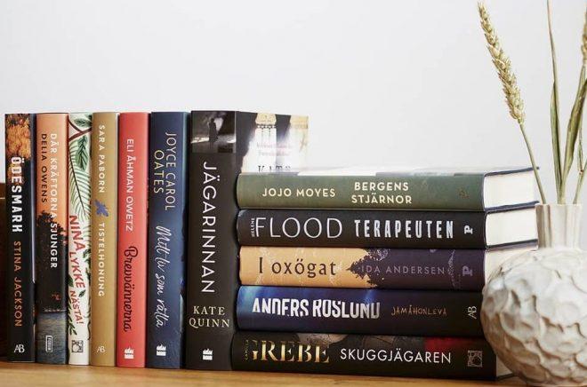 De 12 nominerade böckerna till Årets bok 2020. Foto: Bonniers Bokklubbar