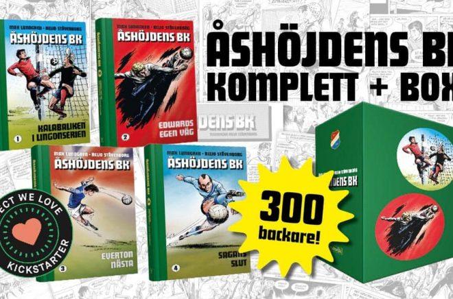 Åshöjdens BK gör succé som Kickstarter och snart finns hela den tecknade serien samlad i bokform.